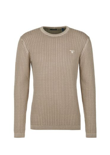 Gant Strickpullover »O2. Sunbleached Knitted C-Neck«