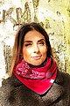 Wishproject® Dreieckstuch »Bordeaux Blüten, XXL Tuch, Kapuzenschal, Bolero, LoopSchal«« Hergestellt in Deutschland, Variierbar mittels Knopf und Schlaufe, Bild 1