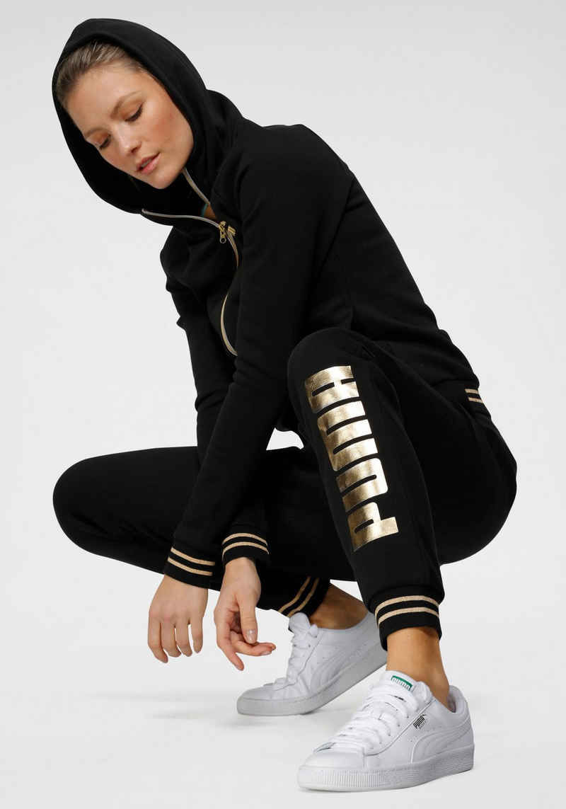 PUMA Jogginganzug »Women Metallic Suit« (Set, 2-tlg)