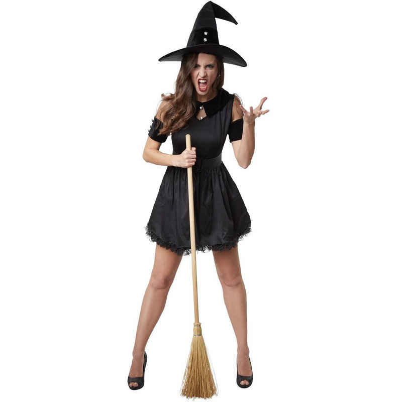 dressforfun Hexen-Kostüm »Frauenkostüm Schwarze Hexe Tarantella«