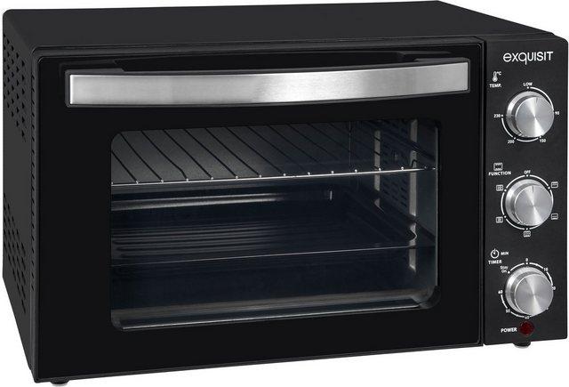 exquisit Minibackofen MO 3301 sw| Ober-/Unterhitze| Umluft| 20 l | Küche und Esszimmer > Küchenelektrogeräte > Küche Grill | Exquisit