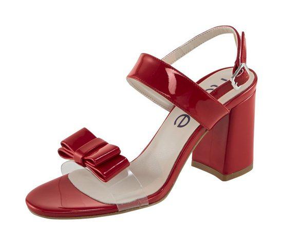 Sandalette mit Schleifenapplikation