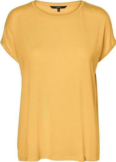 Vero Moda Curve Rundhalsshirt Mit Ärmeln in gekrempelter Optik