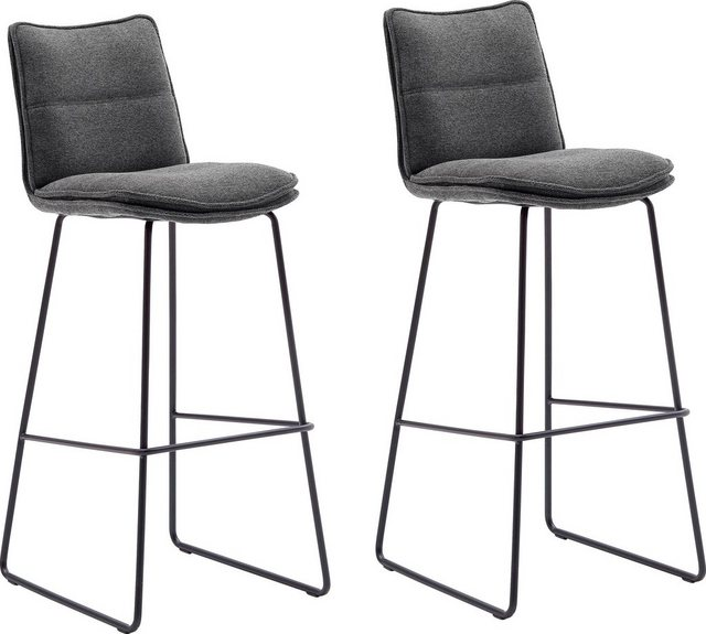 Sessel und Hocker - MCA furniture Barhocker »Hampton« (Set, 2 St., 2 er), Barstuhl 180°drehbar mit Nivellierung, Chenille Optik, Barstuhl bis 120 Kg belastbar  - Onlineshop OTTO