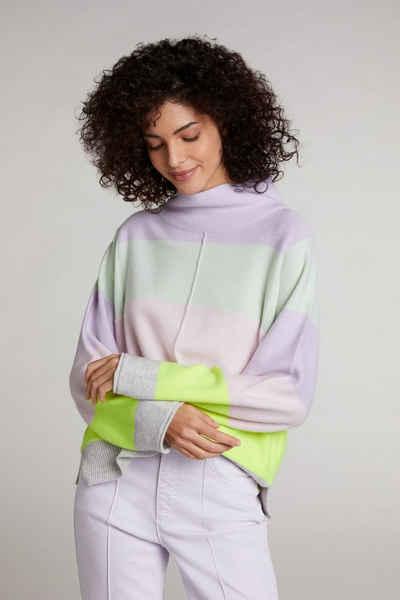 Oui Strickpullover »Pullover mit Blockstreifen«
