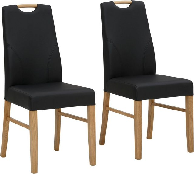 Essgruppen - Home affaire Essgruppe »Nils«, (Set, 5 tlg., Tisch 140 90 cm, 4 Polster Stühle), aus Massivholz  - Onlineshop OTTO