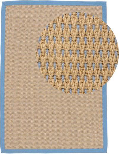 Teppich »Sisal Sofia«, carpetfine, rechteckig, Höhe 5 mm, Wendeteppich aus 100% Jute, Wohnzimmer