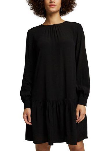 Esprit Blusenkleid mit angesetztem Volant in Taillenhöhe