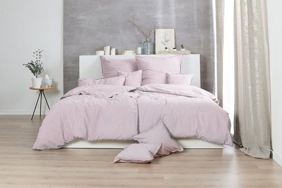 Bettwäsche »8 Top Farben Uni Baumwolle Trend verwaschener look Unikat«, Giancasa, mit Reißverschluss