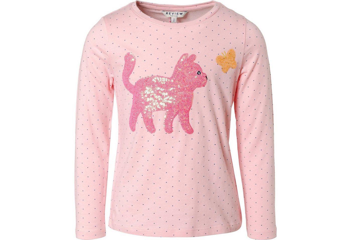 review for kids -  Langarmshirt mit Pailetten für Mädchen