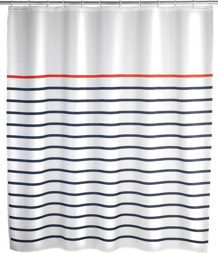 WENKO Duschvorhang »Marine White« Breite 180 cm, Höhe 200 cm, Polyester, waschbar