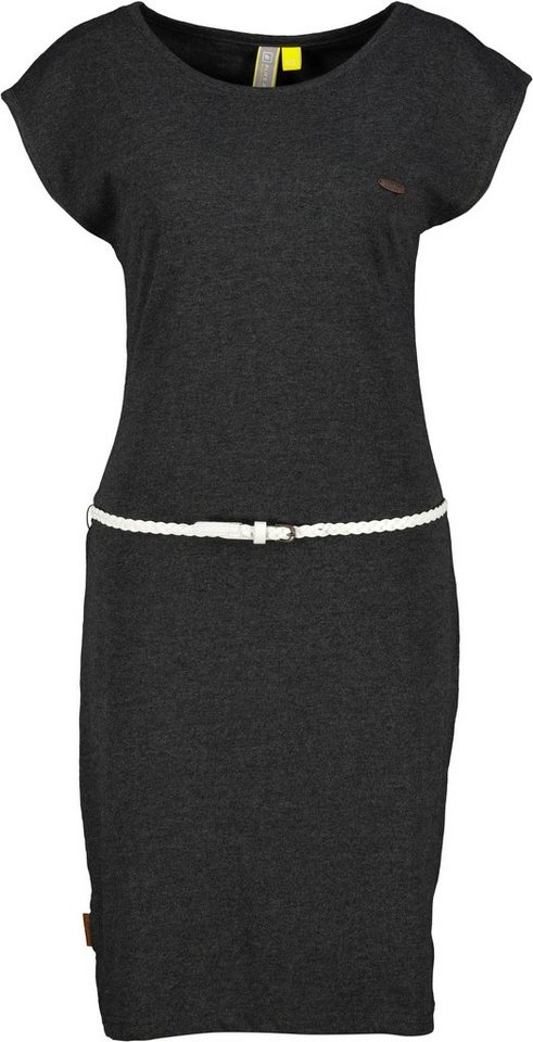 alife & kickin -  Jerseykleid »ElliAK« süßes Sommerkleid mit überschnittenen Ärmeln & kleinem Gürtel