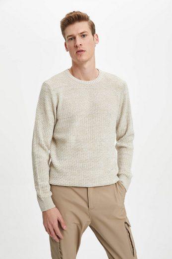 DeFacto Rollkragenpullover »DeFacto Herren Pullover Crew Neck Slim Fit Sweater«