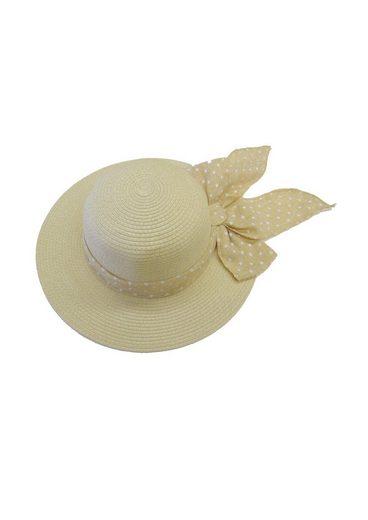 Chaplino Strohhut mit gepunktetem Hutband