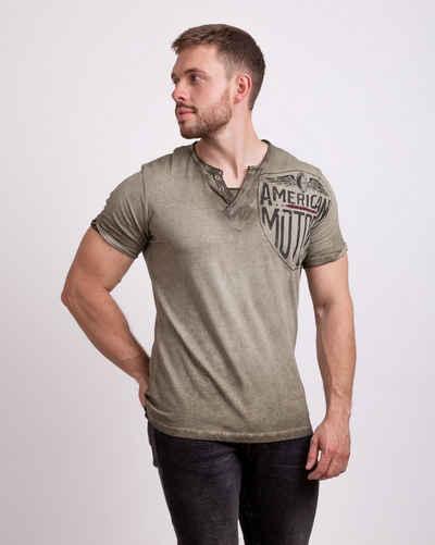 Key Largo T-Shirt mit trendigem Brust- und Rückenprint
