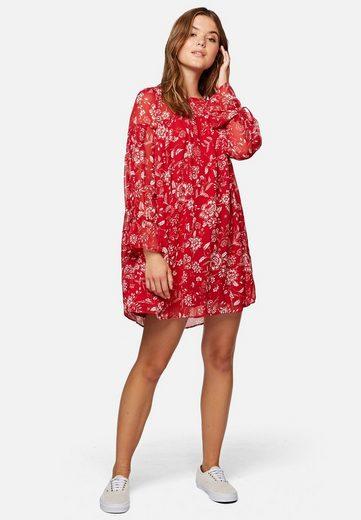 Mavi Chiffonkleid »LONG SLEEVE DRESS« Kleid mit Blumen-Print