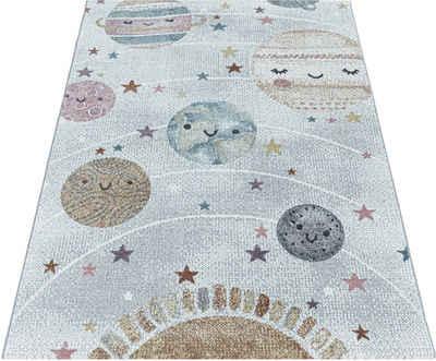 Kinderteppich »FUNNY 2105«, Ayyildiz, rechteckig, Höhe 11 mm, Kinder Mond Sterne Motivteppich