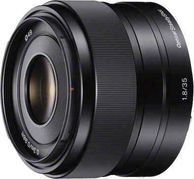 Sony »SEL-35F18 E-Mount Standard« Festbrennweiteobjektiv, (E 35mm F1.8, OSS, APS-C)