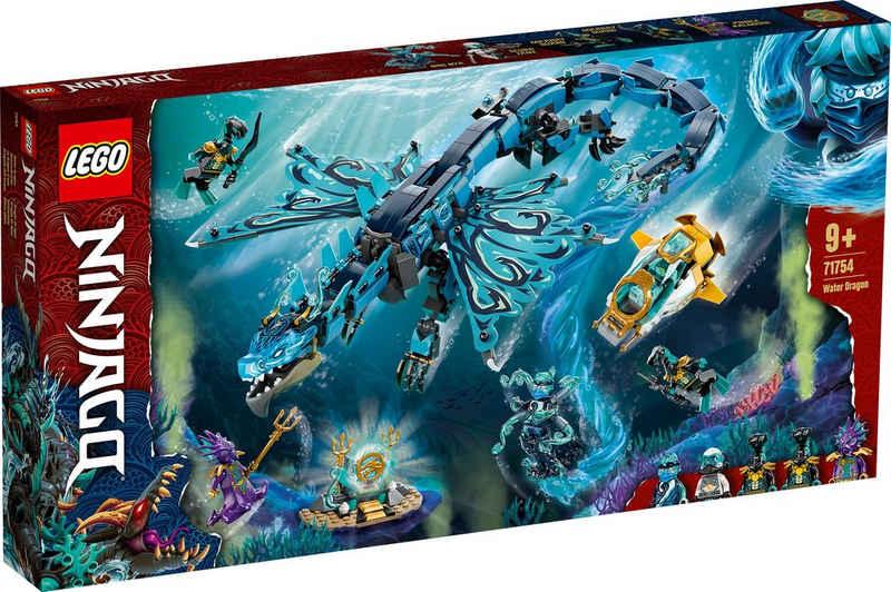 LEGO® Konstruktionsspielsteine »Wasserdrache (71754), LEGO® NINJAGO®«, (737 St)