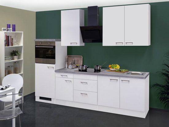 Küchenzeile mit E-Geräten »Kopenhagen«, Gesamtbreite 270 cm