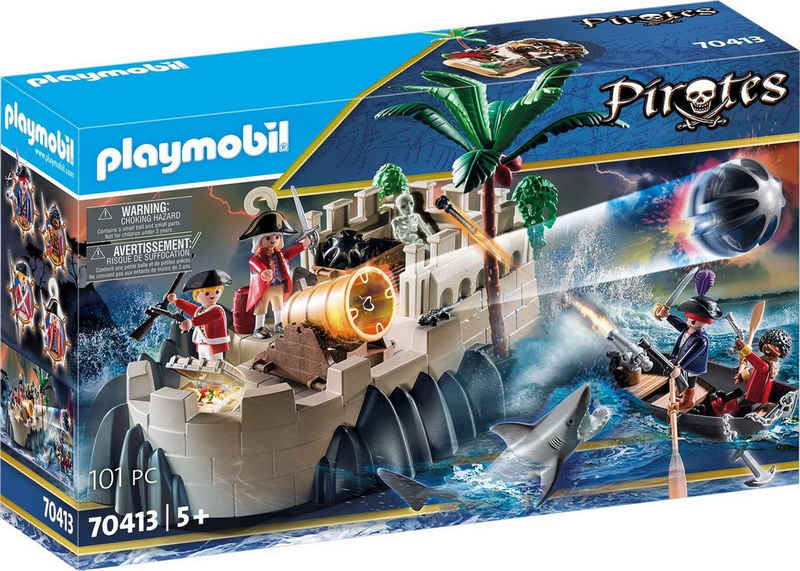 Playmobil® Konstruktions-Spielset »Rotrockbastion (70413), Pirates«, (101 St), Made in Germany