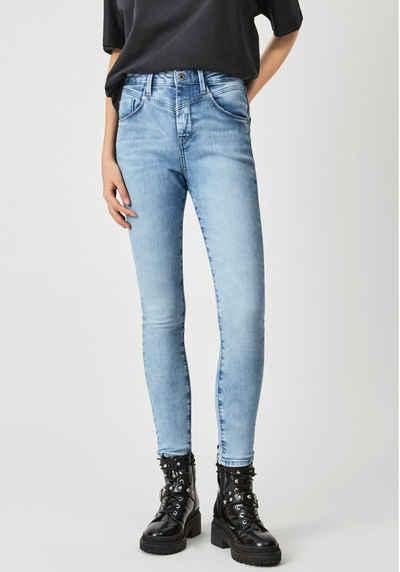 Pepe Jeans Mom-Jeans »DION RETRO« Slim Passform mit hohem Bund und 7/8 Beinlänge in Soft Power Stretch Denim