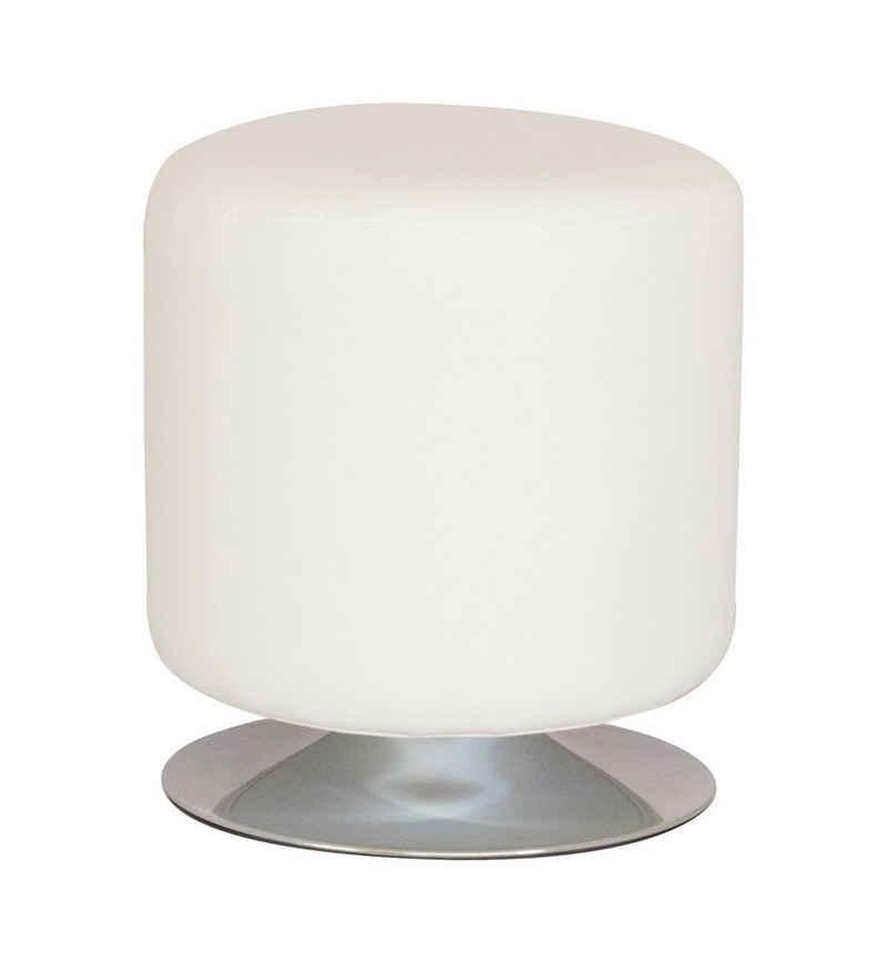 SixBros. Sitzwürfel »M-60351/2143«, Kunstleder Weiß