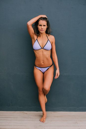 AvaMia Triangel-Bikini »Bikini 06« Bikini Set Bikinitop und Bikinihose Low mit Schnürbindung 06