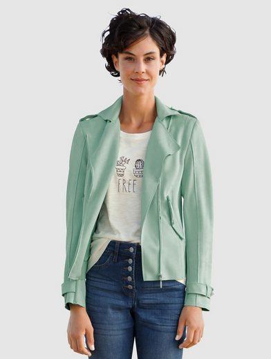Dress In Lederimitatjacke mit asymmetrischem Reißverschluss