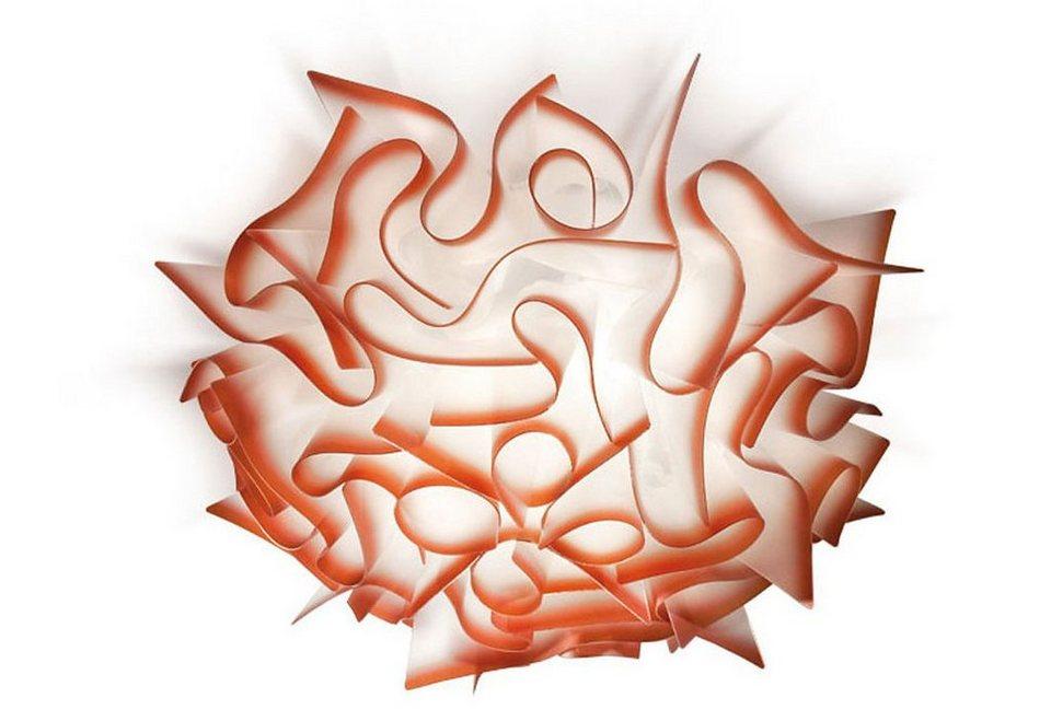 Wand-Deckenleuchte, Slamp, »Veli« in weiß mit roten Rändern