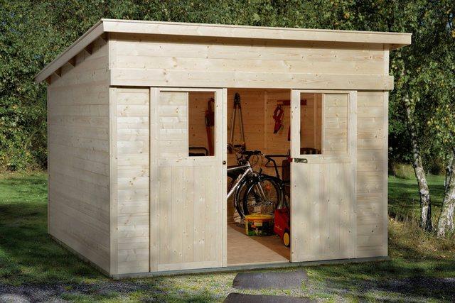 Weka Holz-Gartenhaus Turin Natur B 295 cm x 299 cm