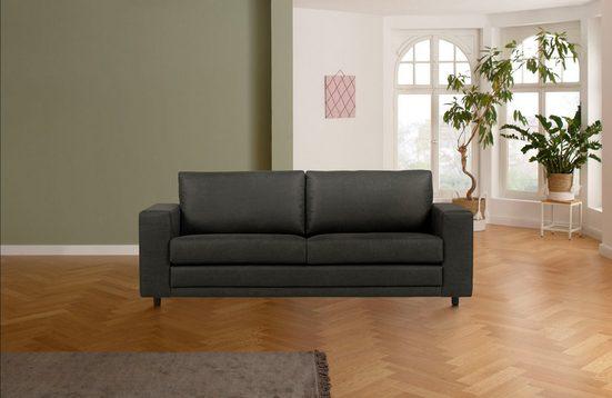 Home affaire 3-Sitzer »Lestat«, mit schwarzen Kunststoff Füßen