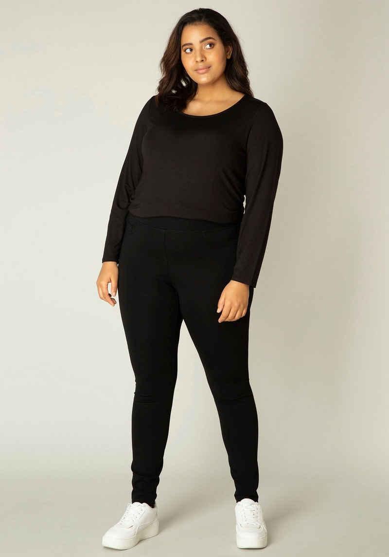 Base Level Curvy Jeggings »Arnika« Typischer Jeansschnitt mit angedeuteten Taschen vorne und rundum Gummizug