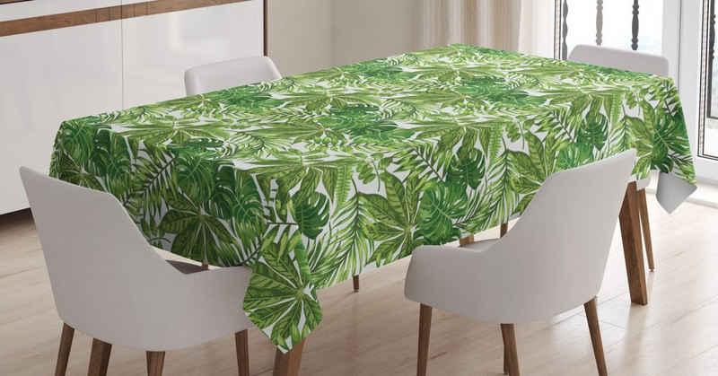 Abakuhaus Tischdecke »Personalisiert Farbfest Waschbar Für den Außen Bereich geeignet Klare Farben«, Palmblatt Dschungel-Laub-Eco