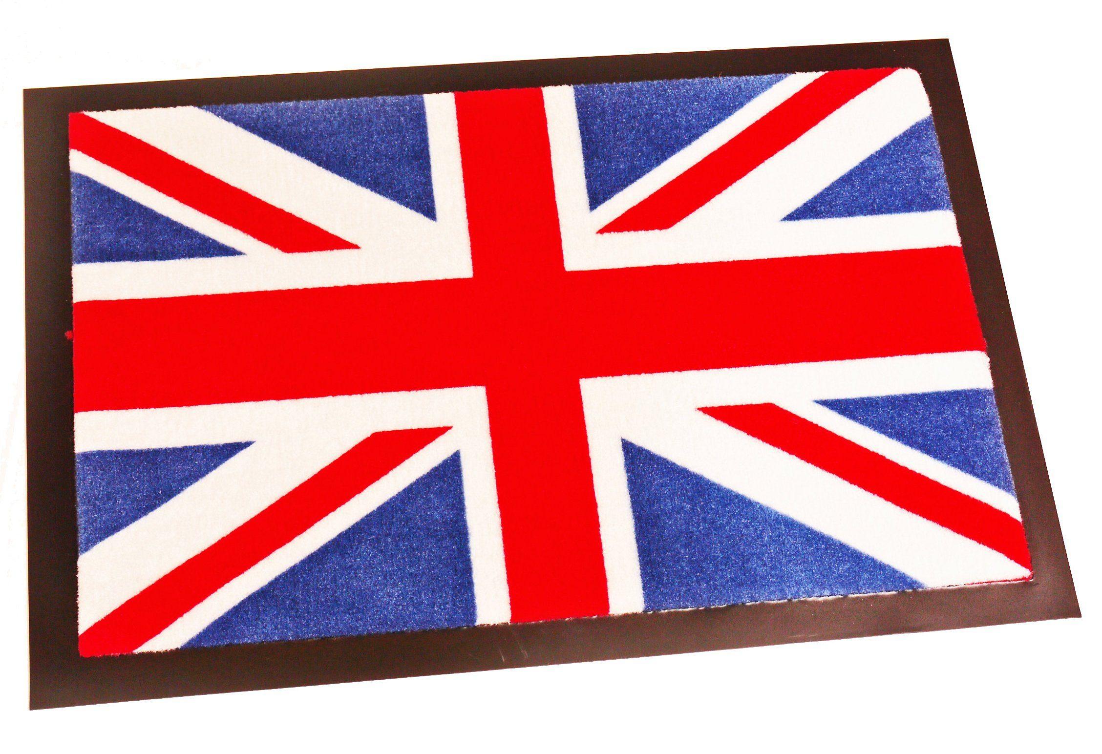 Fußmatte »Union Jack«, Hanse Home, rechteckig, Höhe 8 mm, waschbar