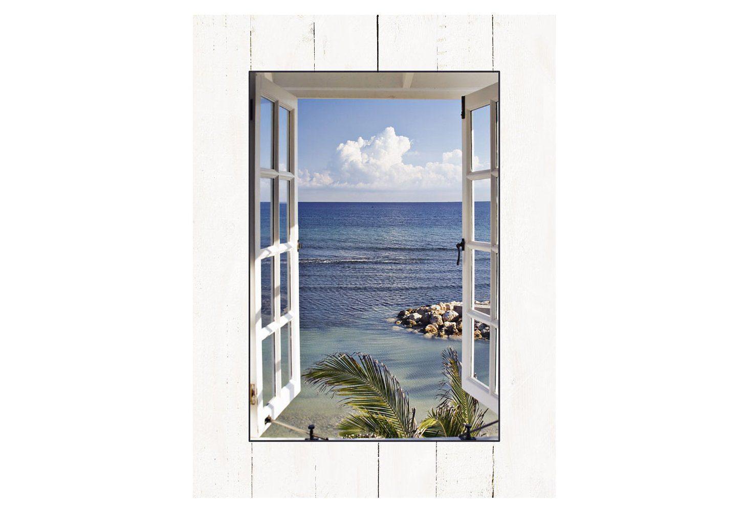 Home affaire, Bild Kunstdruck, »K. Sucker: Fenster zum Paradies«, 60/81 cm