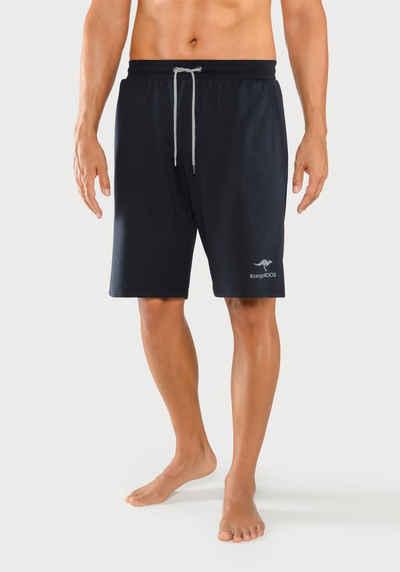 KangaROOS Relaxshorts mit Logodruck auf dem Bein