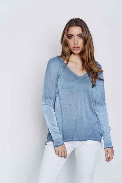 Cotton Candy Langarmshirt »LEDA« mit V-neck