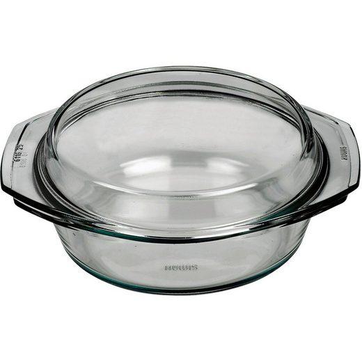 BOHEMIA SELECTION Auflaufform »feuerfeste Glas Schüssel mit Deckel, bis 300°C, 1l«