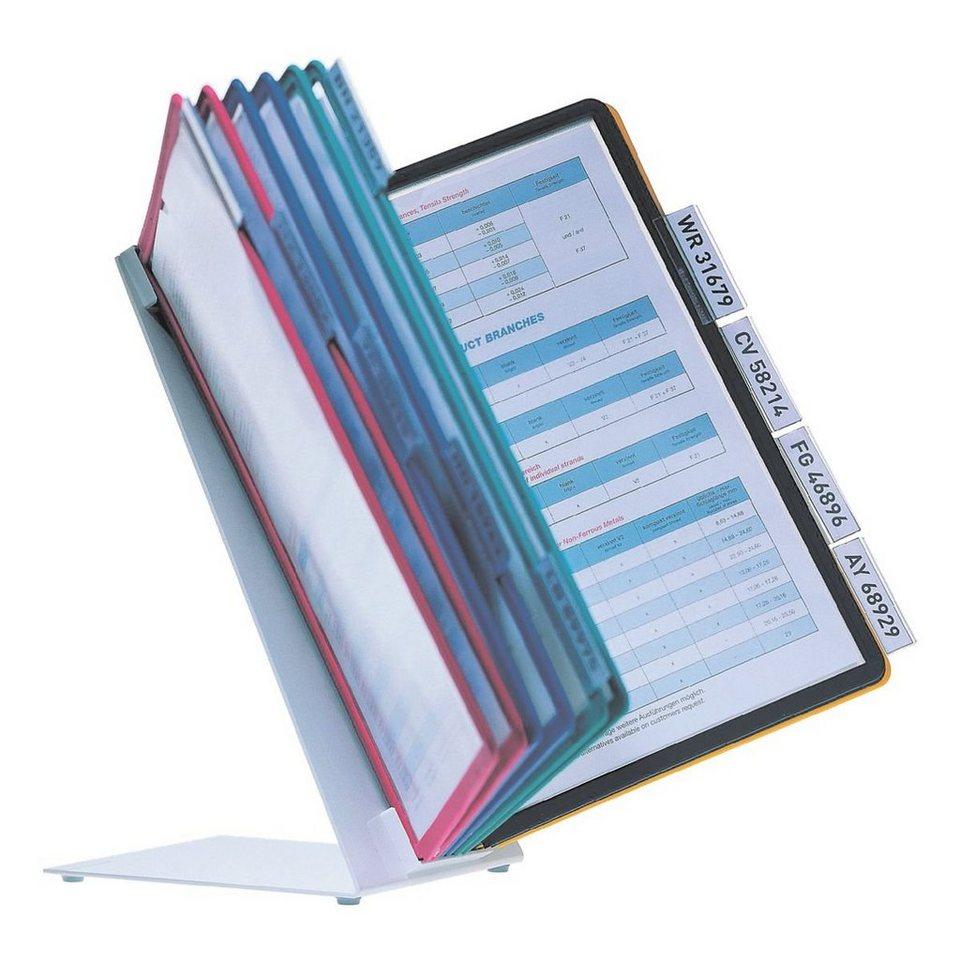 Durable Sichttafelständer in farbig sortiert