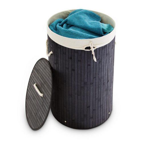 relaxdays Wäschekorb »Wäschekorb Bambus rund«