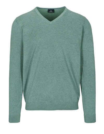 BASEFIELD V-Ausschnitt-Pullover mit V-Ausschnitt