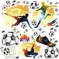 Sunnywall Wandtattoo »XXL Wandtattoo Fussball Set verschiedene Motive, Kinderzimmer Aufkleber bunt Wanddeko Fußball soccer Football«, Bild 2