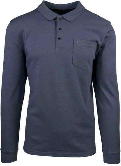 Daniel Hechter Langarm-Poloshirt mit Brusttasche