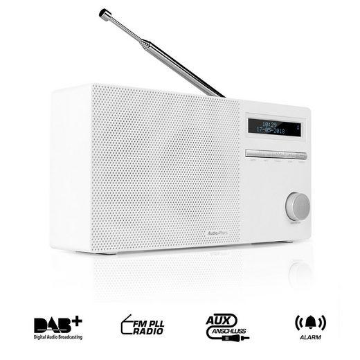 AudioAffairs »DAB 010 Küchen Radio« Digitalradio (DAB) (UKW/FM PLL, UKW/FM PLL, UKW/FM PLL, Bluetooth Küchenradio mit Akku, Digitalradio Aux In und SD)