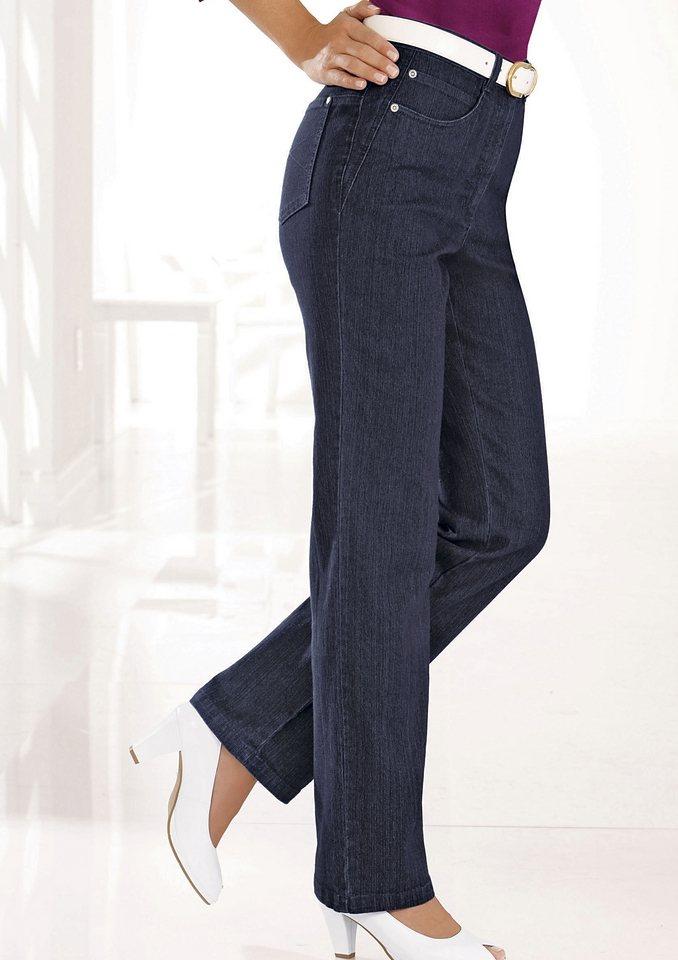 Damen Collection L. Jeans mit gerade Beine für schlanke Optik blau | 06941938360160