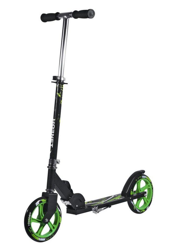 Alu-Scooter, Hudora, »Hornet 205«, schwarz-grün in schwarz-grün