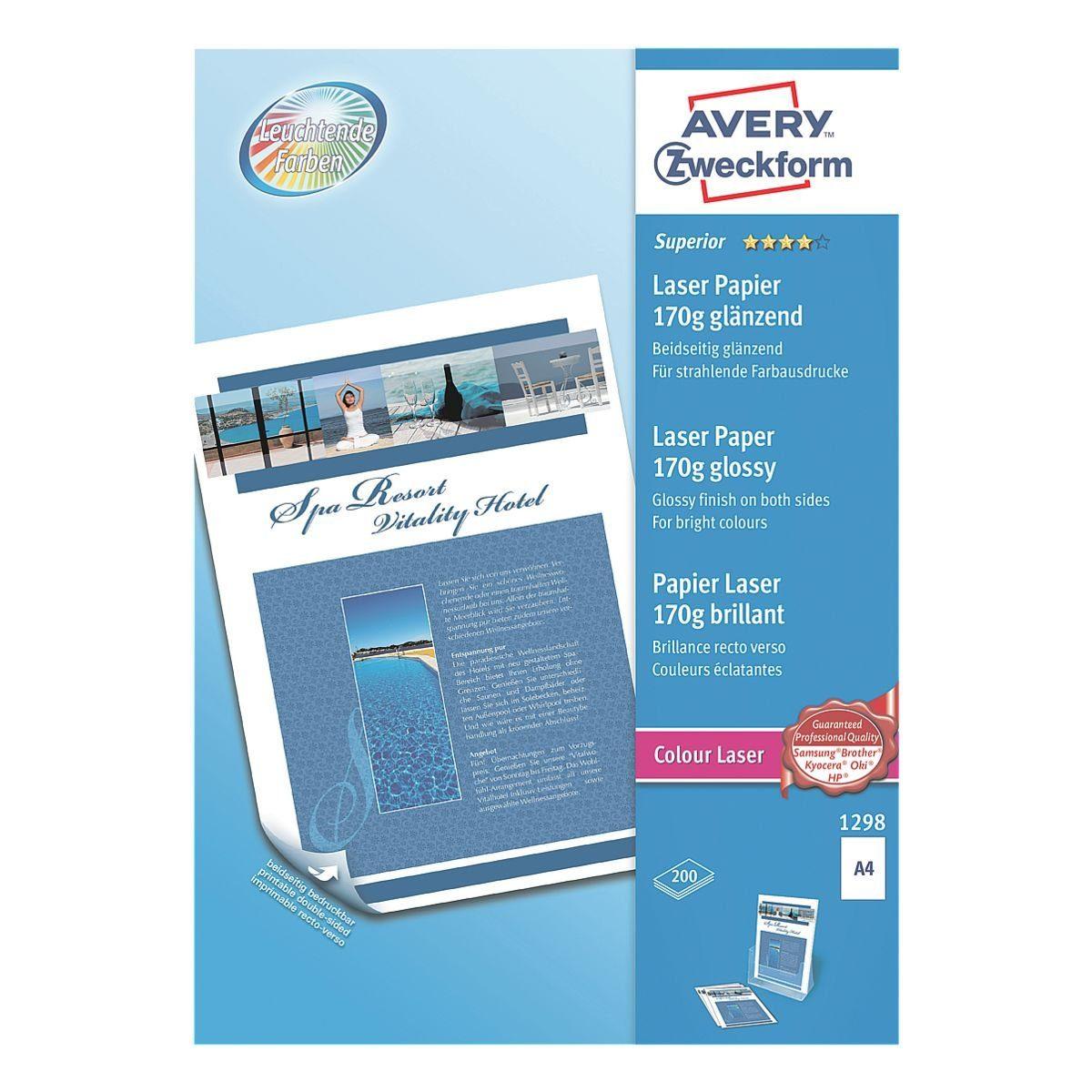 Avery Zweckform Farblaserpapier