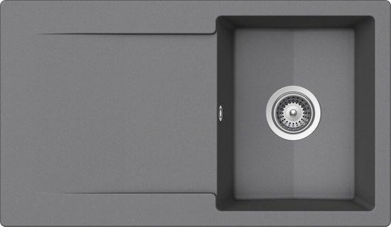 SCHOCK Granitspüle »Pisa«, ohne Restebecken, 86 x 50 cm