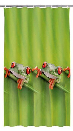 Kleine Wolke Duschvorhang »Frog« Breite 180 cm, 180 x 200 cm, inkl. Besfestigungsringen